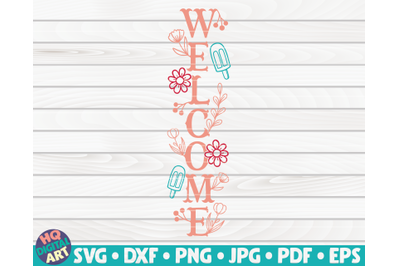 Welcome Porch Sign SVG | Summer themed