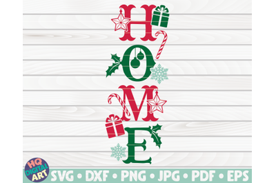 Home Porch Sign SVG   Winter/Christmas themed