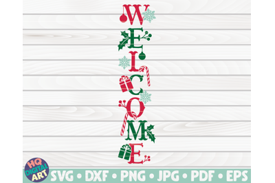 Welcome Porch Sign SVG   Winter/Christmas themed