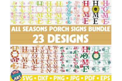 All seasons porch signs SVG Bundle | 23 designs
