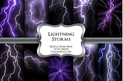 Lightning Storms Digital Paper Pack