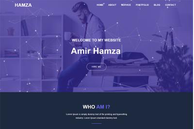 Hamza Personal Portfolio Html Template