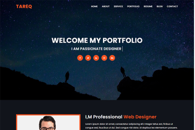 Personal Portfolio Html Template