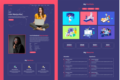 Mariya - Minimal Portfolio HTML Template  (Live Preview Below)