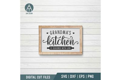 Grandma's Kitchen svg, Is Seasoned With Love, Kitchen svg cut file