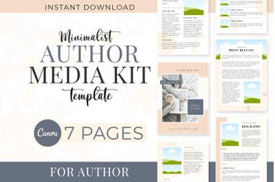 Minimalist Author Media Kit