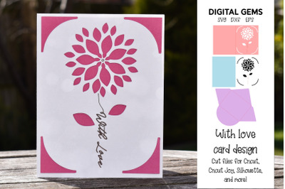 With Love, Cricut Joy card