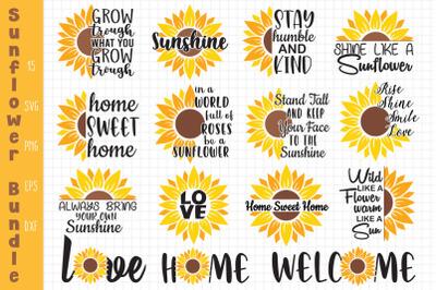 Sunflower Quotes Bundle, Sunflower Svg, Quotes Bundle