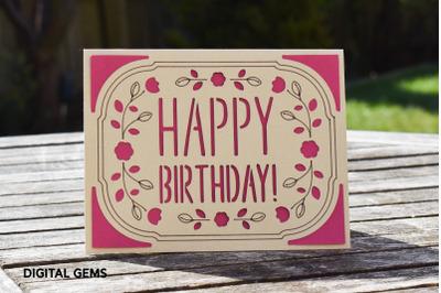 Happy Birthday Cricut Joy card design