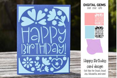 Birthday card. Cricut joy design