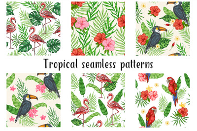 Tropical Summer Patterns with Birds