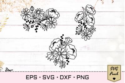 Wildflower bunch florals SVG