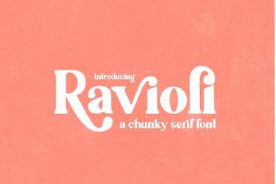 Ravioli Serif Font (Bold Fonts, Chunky Fonts, Thick Fonts)