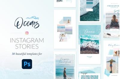 Instagram Stories Oceans Pack - Photoshop