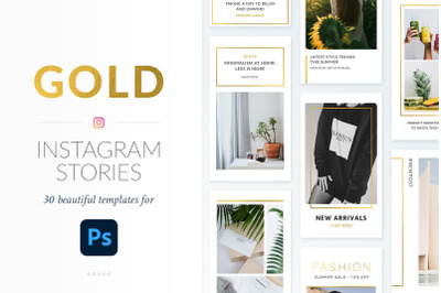 Instagram Stories Gold Pack - Photoshop