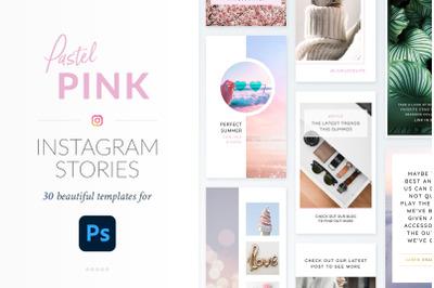 Instagram Stories Pastel Pink Pack - Photoshop
