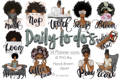 Daily To Do's Afro Planner Icons