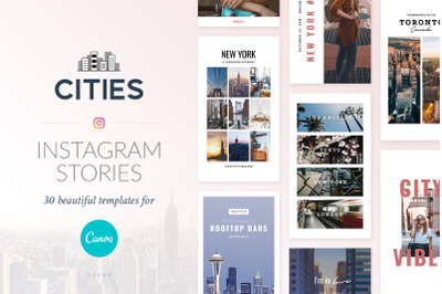 Instagram Stories Cities Pack - Canva