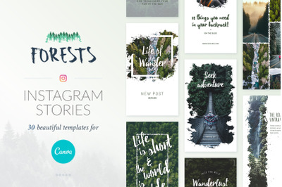 Instagram Stories Forests Pack - Canva