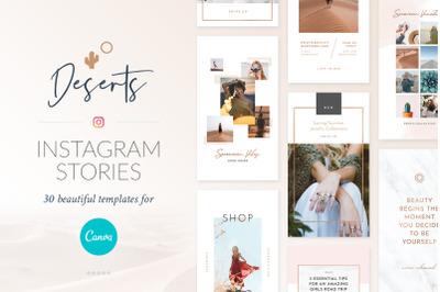 Instagram Stories Deserts Pack - Canva