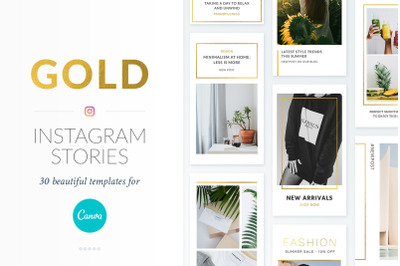 Instagram Stories Gold Pack - Canva