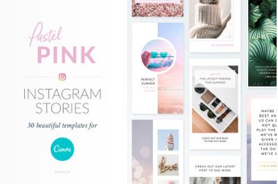 Instagram Stories Pastel Pink Pack - Canva