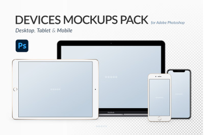 Devices Quick Mockups Pack - Photoshop