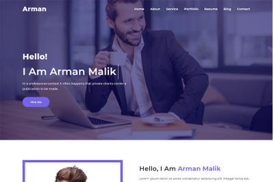 Arman Personal Portfolio Website Template