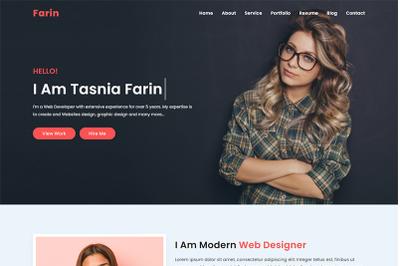 Farin Personal Portfolio HTML Template
