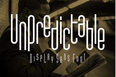 Unpredictable - Display Sans Font