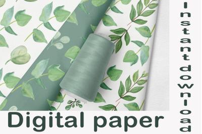 Eucalyptus Seamless pattern, Print Floral digital paper