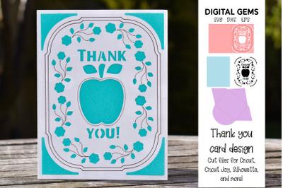 Thank you teacher, Cricut joy card