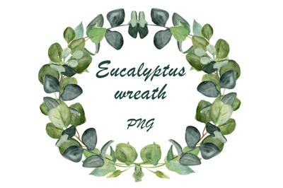 Eucalyptus leaves, floral wreath png, greenery clipart