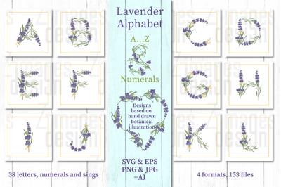 Lavender Alphabet Clipart