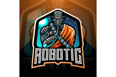 Monk robotic esport mascot logo
