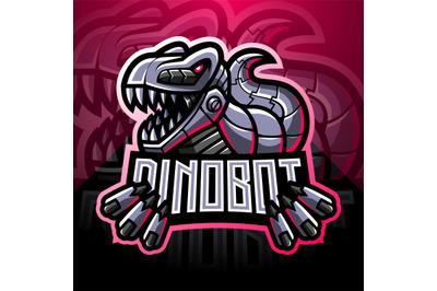 Dinosaur robot esport mascot logo design