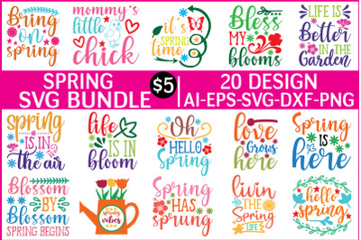 spring svg bundle vol - 4