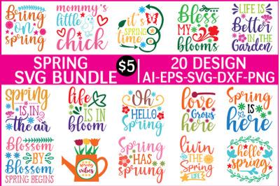spring svg bundle vol - 4