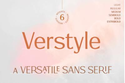 Verstyle | A Versatile Sans Serif Typeface