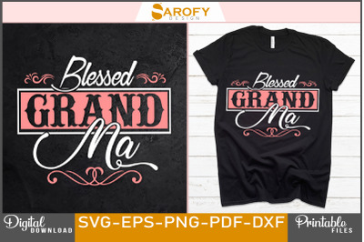 Blessed grandma-mother's day design sublimation