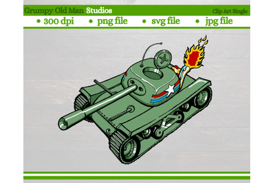 Cartoon Army Tank   WW2 US Sherman