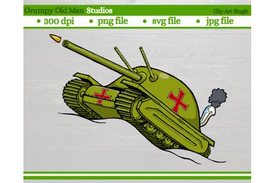 Cartoon Army Tank   WW2 German tank
