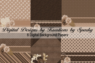 Shades of Brown Digital Background Papers