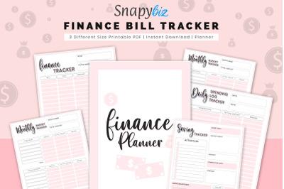 Finance Planner, Finance Bill Tracker