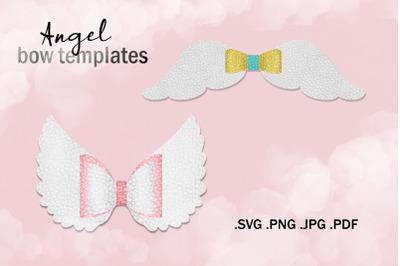 Angel Bow SVG Template- Hair Bow Cut Files