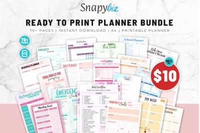 Ready To Print Printable Planner Bundle   Printable Bundle