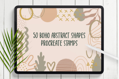 Boho Abstract Shapes Procreate Stamps
