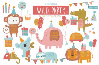 Wild Party clipart set
