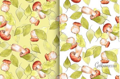 Patterns with mushrooms, set of 5