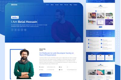 Dekha Personal Portfolio Landing Page Template
